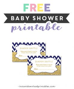 Diaper Raffle Tickets Archives Instant Download Printables