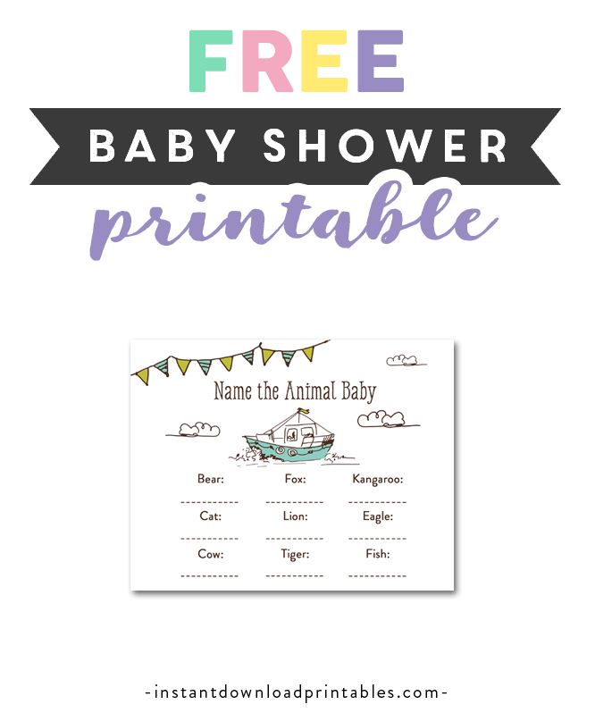 photo relating to Free Printable Nautical Baby Shower Games identify Absolutely free Printable Kid Shower Nautical Boat Send out Youngster Boy
