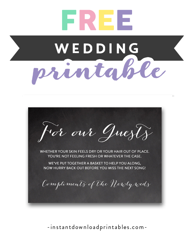 photo relating to Printable Bathroom Sign identify Absolutely free Printable Wedding ceremony Indicator Chalkboard - For Our People