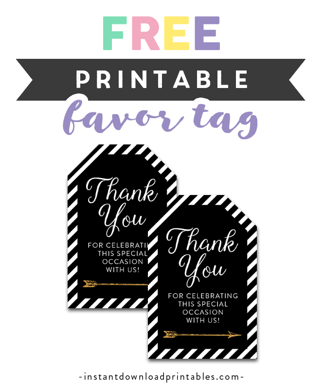 photo relating to Thank You Tag Free Printable referred to as Absolutely free Printable Thank Oneself Tags - Black White Tribal Arrow