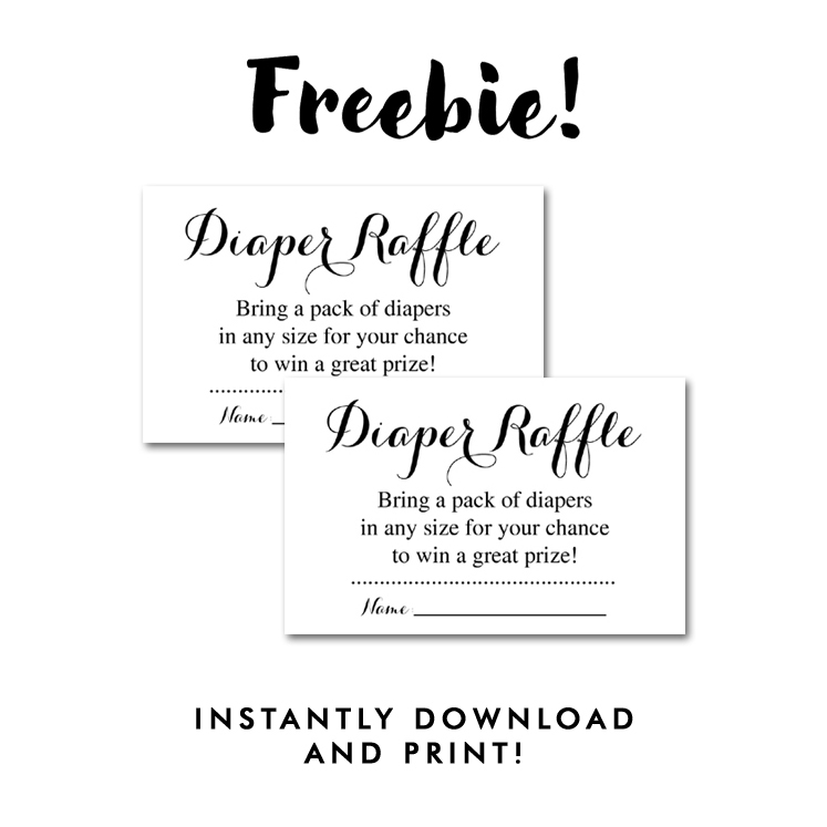 It is an image of Mesmerizing Free Printable Diaper Raffle Tickets Black and White
