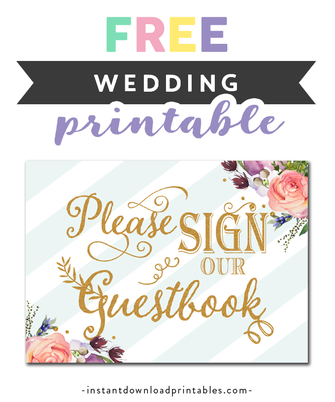 photo relating to Printable Guest Book identified as No cost Printable Marriage Indicator - Make sure you Signal Our Guestbook