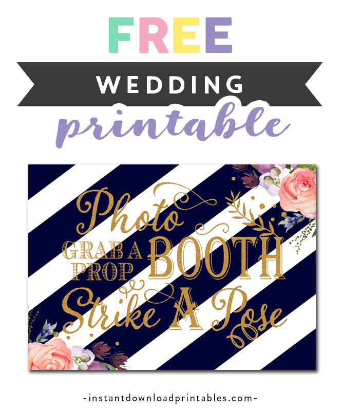 image about Free Printable Photo Booth Sign titled No cost Printable Marriage ceremony Indicator - Photograph Booth Seize a Prop Hit