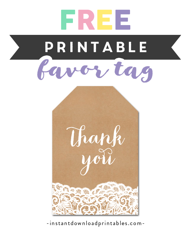 image about Printable Kraft Tags known as Free of charge Printable Thank On your own Tags - Rustic Nation Kraft Lace