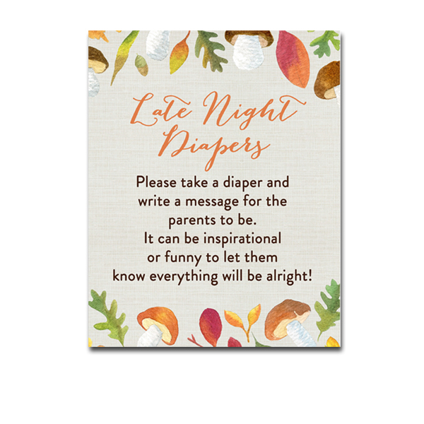 photo about Late Night Diapers Printable known as No cost Printable Youngster Shower Autumn Tumble Leaves - Game