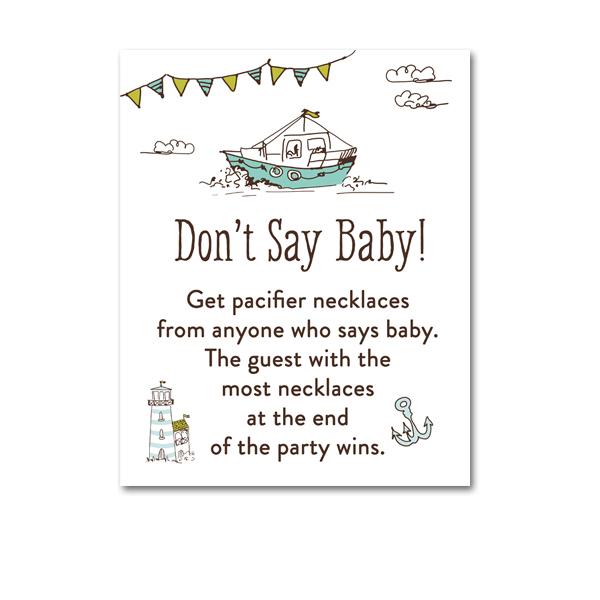 image regarding Don T Say Baby Game Printable identified as No cost Printable Kid Shower Nautical Boat Send Child Boy