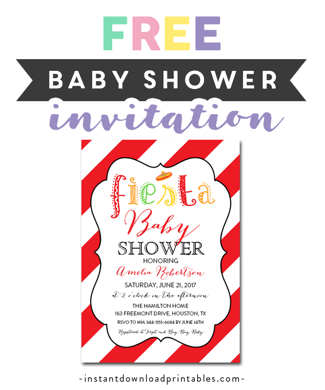 graphic relating to Free Printable Fiesta Invitations referred to as Totally free Printable Editable PDF Youngster Shower Invitation Do-it-yourself