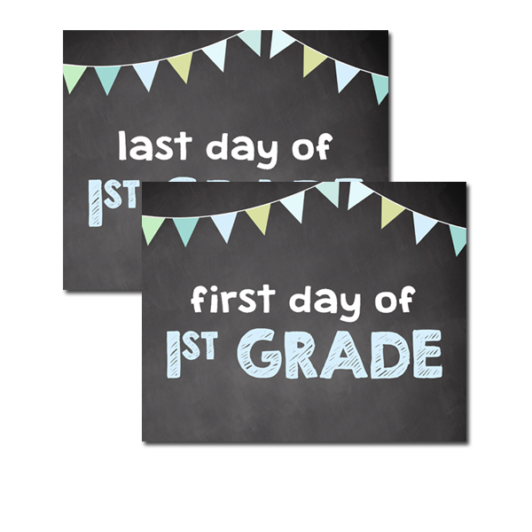 photograph regarding First Day of 1st Grade Printable referred to as No cost Printable Higher education Indication 8x10 - Very first Past Working day of 1st