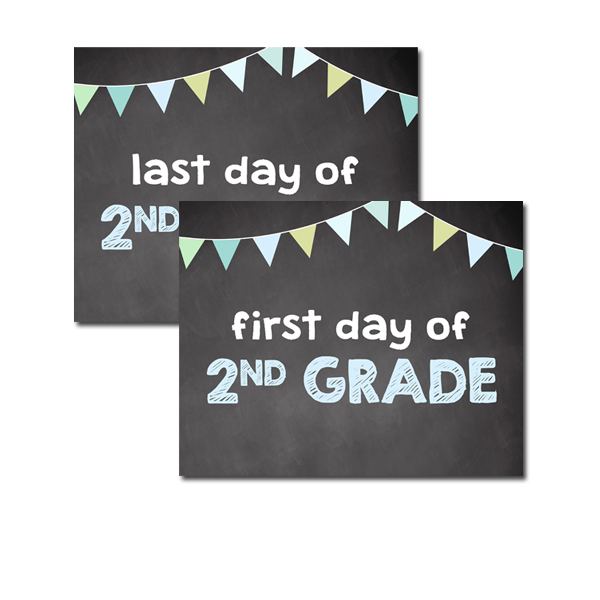 graphic regarding First Day of Second Grade Printable Sign named Absolutely free Printable College or university Indicator 8x10 - 1st Very last Working day of 2nd