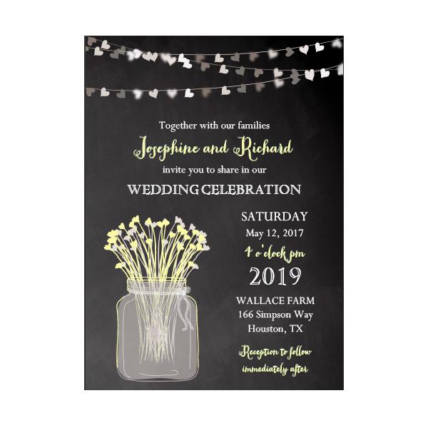 Free Printable Editable PDF Wedding Invitation DIY - Rustic Country