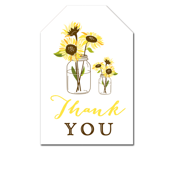 photo regarding Printable Pictures of Sunflowers identified as Absolutely free Printable Thank Yourself Tags - Summer season Yellow Rustic