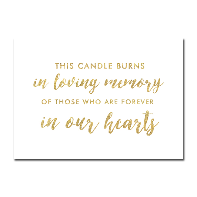 This candle burns in loving memory free printable