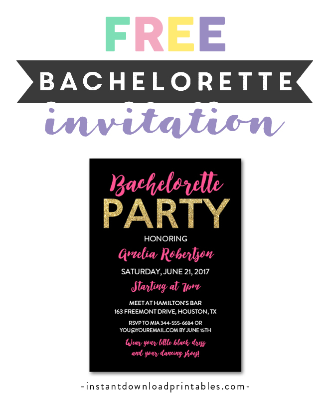 photo relating to Free Printable Bachelorette Party Invitations named Absolutely free Printable Editable PDF Bachelorette Social gathering Invitation