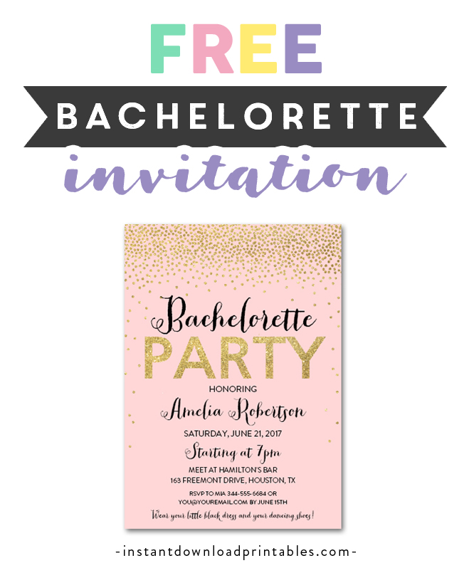 picture about Free Printable Bachelorette Party Invitations known as Totally free Printable Editable PDF Bachelorette Get together Invitation