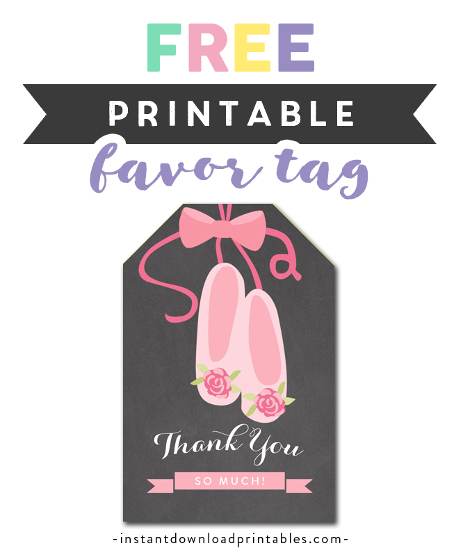 image regarding Thank You Printable Tag named Free of charge Printable Thank By yourself Tags - Ballerina Dancer - Prefer
