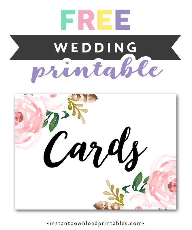 photo regarding Free Printable Wedding Cards called Free of charge Printable Marriage ceremony Signal Bouquets - Playing cards - Quick