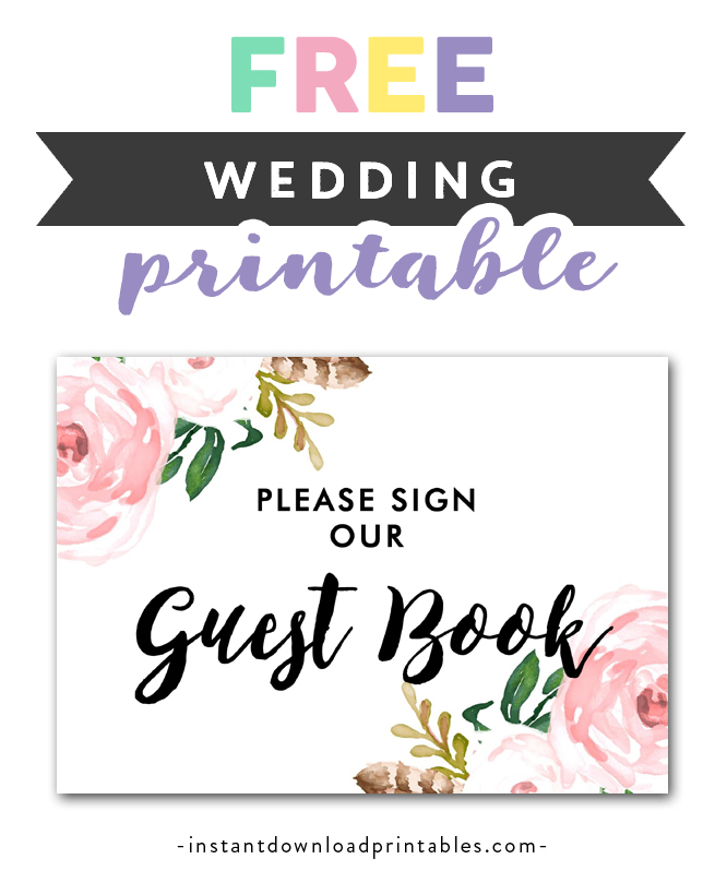 It is a photo of Please Sign Our Guestbook Free Printable for advice card printable