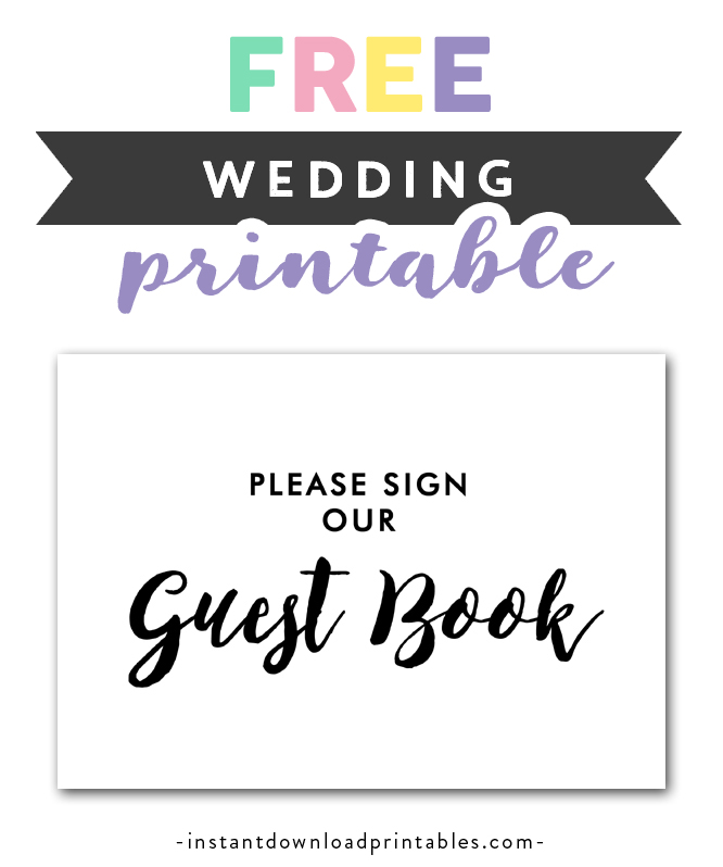 image regarding Please Sign Our Guestbook Printable called Absolutely free Printable Wedding ceremony Signal Black and White - Be sure to Indicator