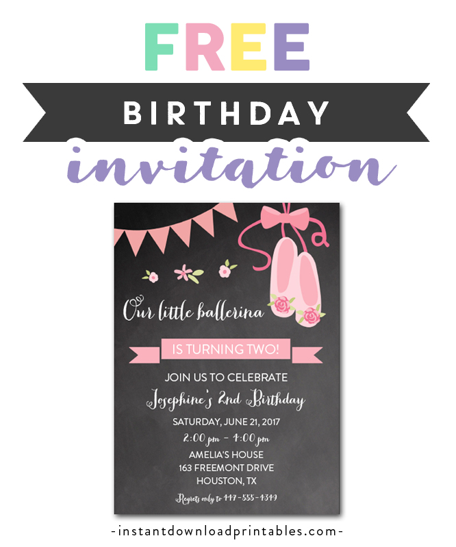 photo relating to Free Printable Bachelorette Party Invitations referred to as Absolutely free Printable Editable PDF Birthday Get together Invitation Do it yourself