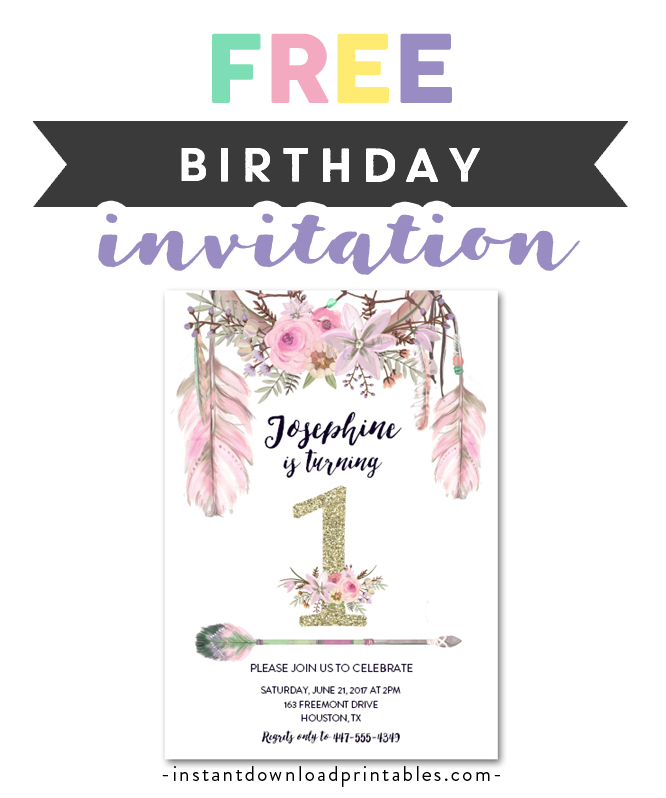 It's just a picture of Free Printable Party Invitations with regard to template