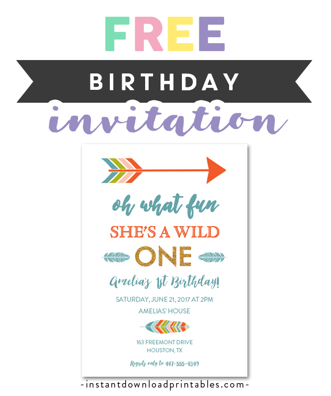 Free Printable Editable Pdf Birthday Party Invitation Diy 1st