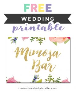image relating to Free Printable Mimosa Bar Sign identified as All Printables Archives - Site 12 of 76 - Prompt Down load