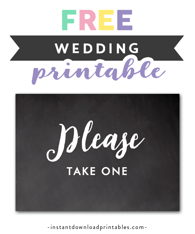 image relating to Free Printable Please Take One Sign named Absolutely free Printable Marriage Indication Rustic Chalkboard - Be sure to Acquire