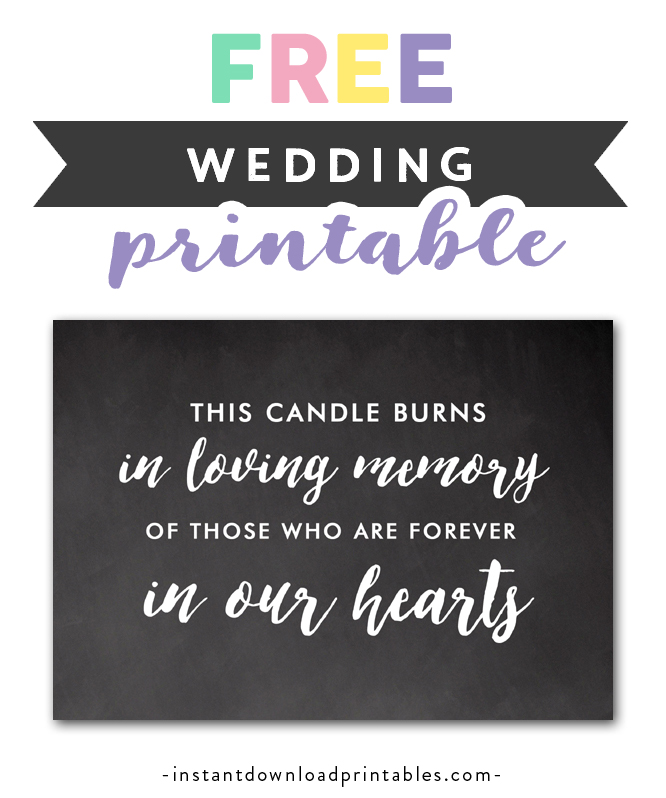 graphic regarding In Loving Memory Free Printable identify No cost Printable Marriage ceremony Signal Rustic Chalkboard - Inside of Loving