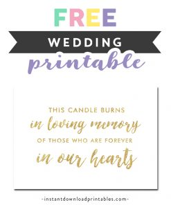 graphic about In Loving Memory Free Printable titled Wedding day Symptoms Design 2 Archives - Prompt Obtain Printables