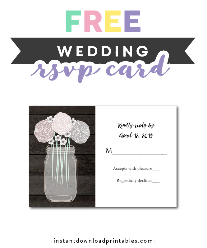 photo relating to Free Printable Rsvp Cards named Free of charge Printable Editable PDF Marriage ceremony RSVP Card Do-it-yourself - Rustic