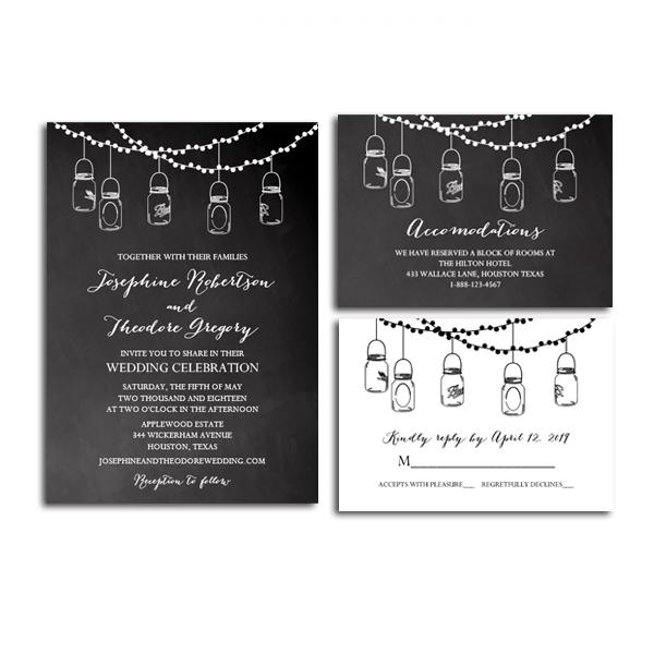 Free Printable Editable PDF Wedding Invitation Suite DIY - Rustic