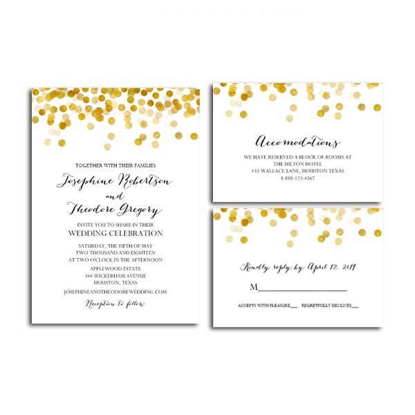 Edit Wedding Invitation Card: Free Printable Editable PDF Wedding Invitation Suite DIY
