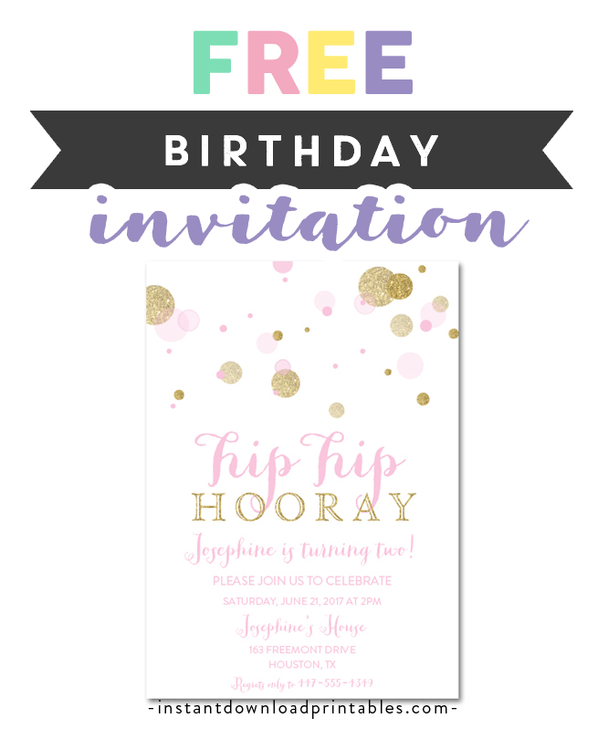 Chalk Gold Confetti Pink Flowers 20th Birthday Party Invitations