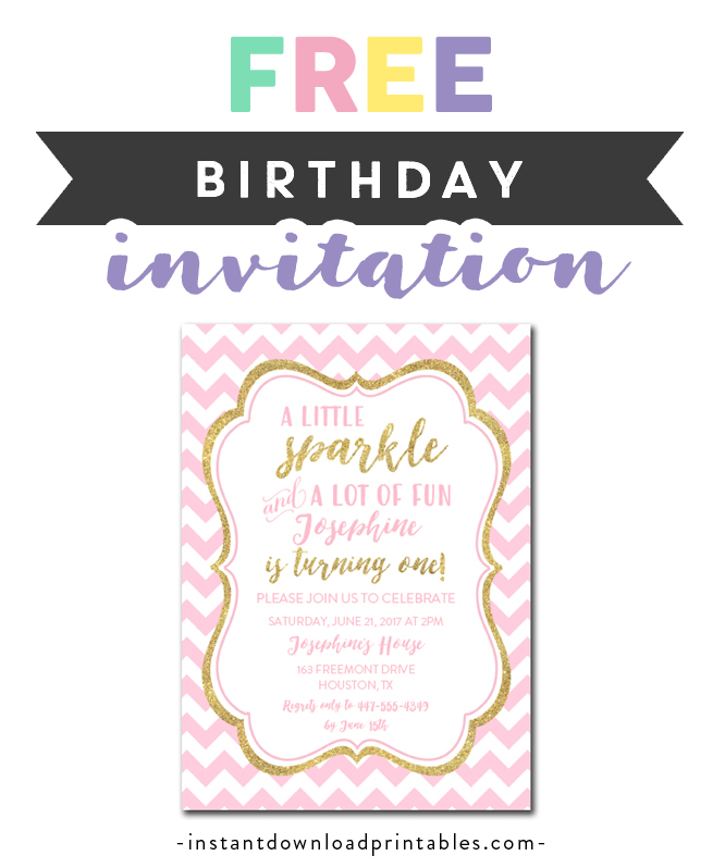 graphic about Free Printable Fall Party Invitations named Absolutely free Printable Editable PDF Birthday Occasion Invitation Do it yourself