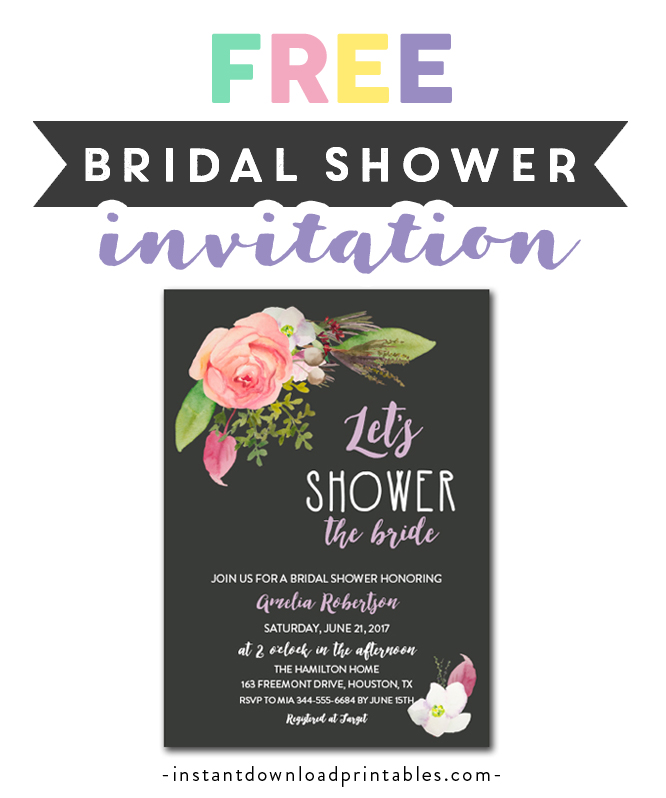 image about Free Printable Bridal Shower Invitations titled Free of charge Printable Editable PDF Bridal Shower Invitation Do it yourself