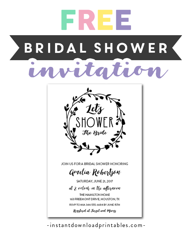 photograph about Bridal Shower Invitations Printable referred to as No cost Printable Editable PDF Bridal Shower Invitation Do-it-yourself