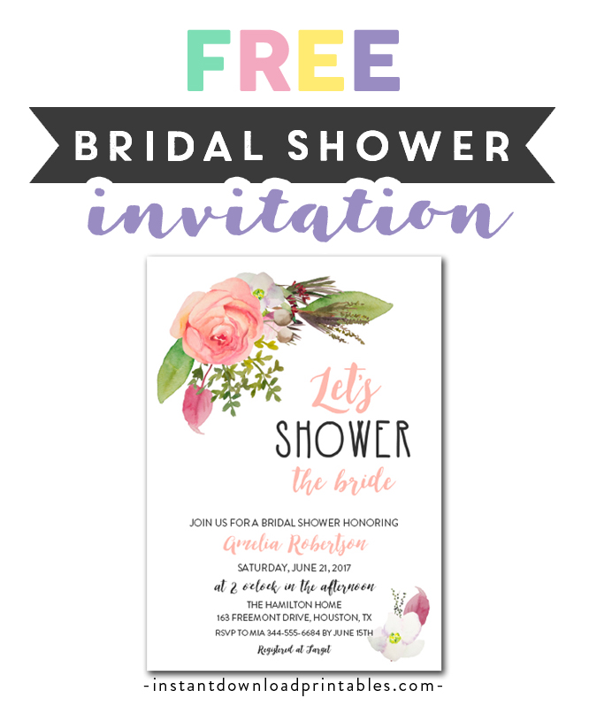 picture about Printable Bridal Shower Invitations titled No cost Printable Editable PDF Bridal Shower Invitation Do it yourself
