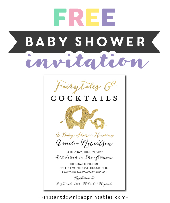 photo regarding Printable Fairy Tales Pdf named Free of charge Printable Editable PDF Child Shower Invitation Do it yourself